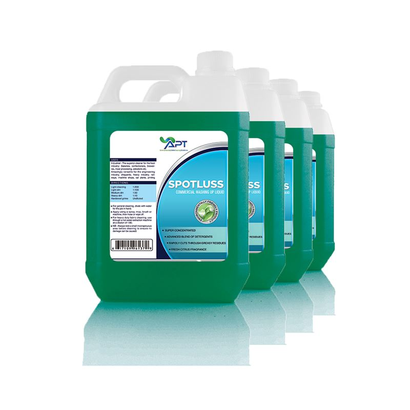 Picture of Super Concentrated Glass and Washing Up Liquid - Spotluss - 4 x 5 Litres