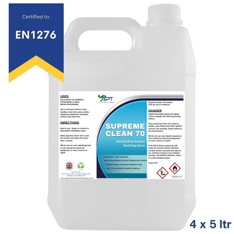 Picture of Alcohol Spray Cleaner - Supreme Clean 70 - 4 x 5 Litre