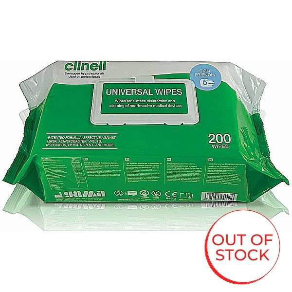 Picture of Clinell Antibacterial Hygiene Wipes 1 x 200